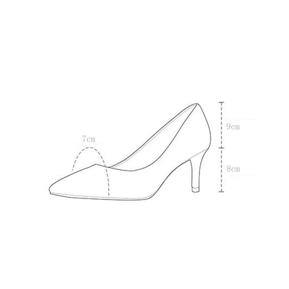 WYYY Damenschuhe High Heels Wortabzug Gut Mit Flacher Flacher Flacher Mund Spitze Freizeitschuhe 8 Cm ( Farbe   Beige  größe   37 ) 7a21e0