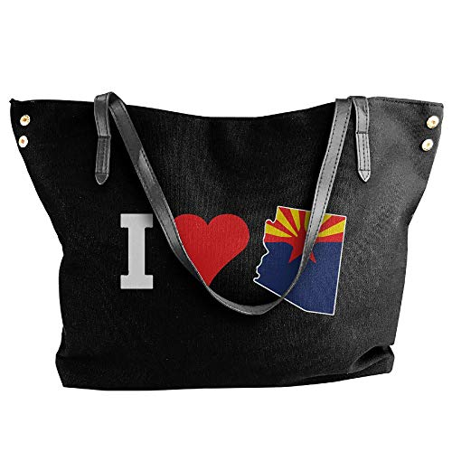 Bag Shoulder Canvas Women's Tote Hobo Love Arizona Handbag Large Messenger Tote Black I Ovqwtgq