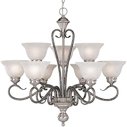 Millennium 679-SN SM Nine Light Up Chandelier with Nickel Finish