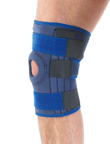 Neo G Knee Brace, Stabilized Open Patella - Support For Arthritis, Joint Pain, Meniscus Tear, ACL, Running, Basketball, Skiing – Adjustable Compression – Class 1 Medical Device – One Size – Blue by Neo-G (Image #2)