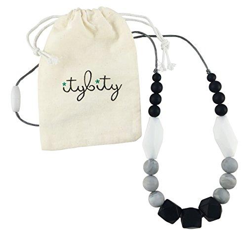 Teething Necklace Silicone Beads Black product image