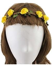 Seaside Beach Big Floral Crown Garland Halo Bridal Wreath Headband
