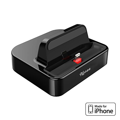 Kosee iPhone Dockingstation mit USB-Anschluss Sync-Ständer zum aufladen, geeignet für iPhone 7 / 6 / 6 Plus / 5 / 5S Schutzhülle unterstützt