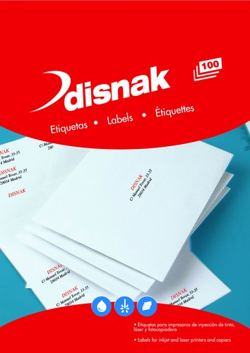 Etiquetas adhesivas impresora A4 blanca caja 100h cantos ...