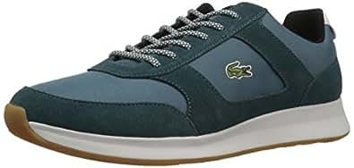 Lacoste Men's Joggeur 417 1 Sneaker, Dark Green/Black, 7 M US
