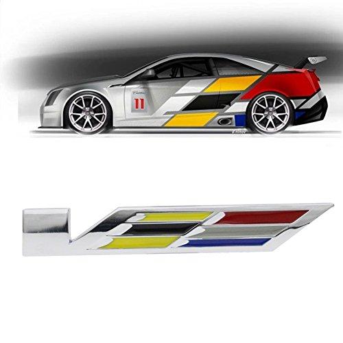 Dsycar for Cadillac 3D Metal CTS Nuclear-powered WTF Car sticker Logo Emblem Badge Decals for Cadillac SRX XTS ATS CTS CTS EXT ATS-L COUPE Hybrid (CC Emblem)