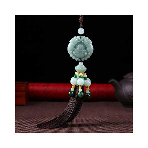Car Hanging Decoration, Dangling Ornaments Vehicle Accessory Rearview Mirror Charms Pendant Brave Troops Crystal Lotus Car Pendant Amulet Pray for Luck ()