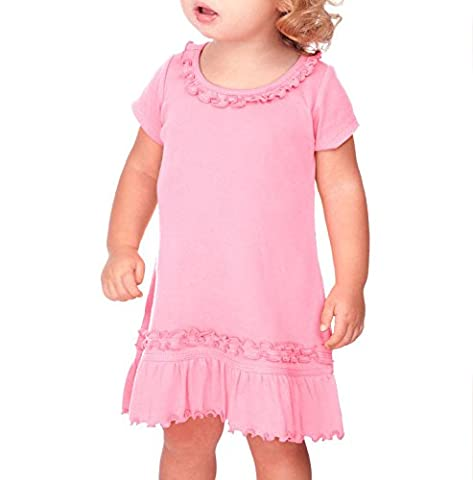 Kavio! Infants Sunflower Short Sleeve Dress Bubblegum Pink 24M - Together Short Sleeve Dress