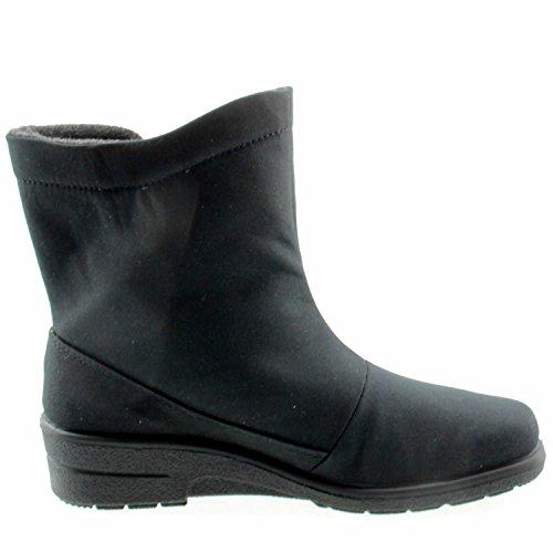 Jenny München-St 03-68591-06 - Botas de nieve de tela para mujer negro