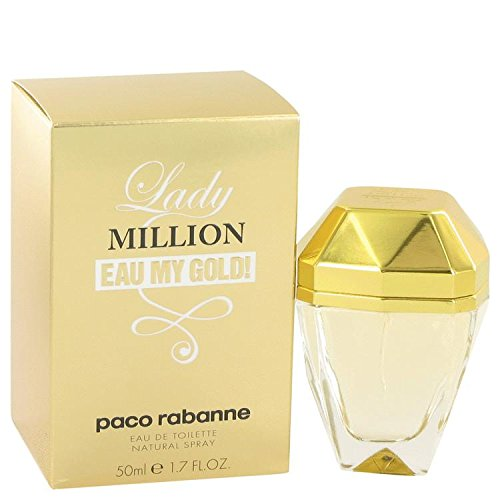 Lady Million Eau My Gold by Paco Rabanne Eau De Toilette Spray 1.7 oz (Rabanne Hombres Paco Perfumes)