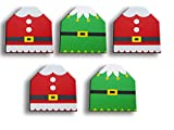 Christmas Gift Card Holder Gift Box, Gift Card Holders Xmas Santa and Elf Designs for Holidays (Set of 5)
