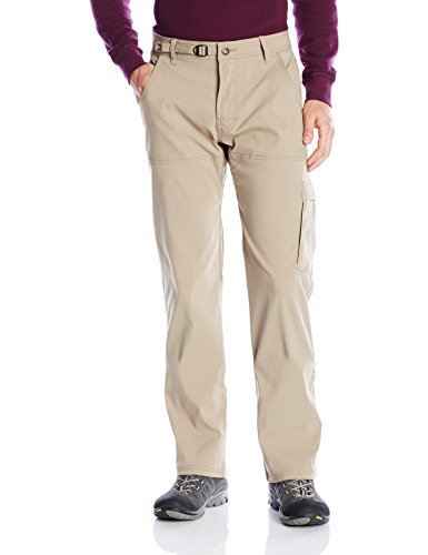 prAna Men's Stretch Zion 36' Inseam Pants, Dark Khaki, Size 36