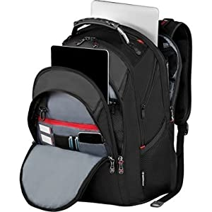 """SwissGear Ibex Backpack With 17"""" Laptop Pocket, Black"""