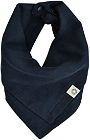 Indi by Kishu Baby Premium Organic Bandana Scarf Bib with Snaps - Luxuriously Soft 100% Cotton Muslin Solid Color Bib - Mult