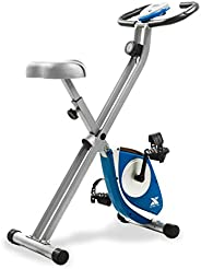 Xterra FB150 Folding Adjustable Magnetic Upright Exercise Bike for Home Gym, Portable X-Bike with LCD Monitor