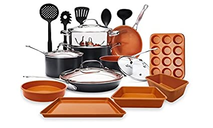 Gotham Steel 20 Piece All In One Kitchen Cookware Bakeware And Utensil Set With Non