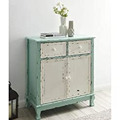 Farmhouse Buffet Sideboards BELLEZE Rustic Wood Cabinet with Drawers and Doors Vintage Traditional Accent Storage Chest for Entryway, Living Room… farmhouse buffet sideboards