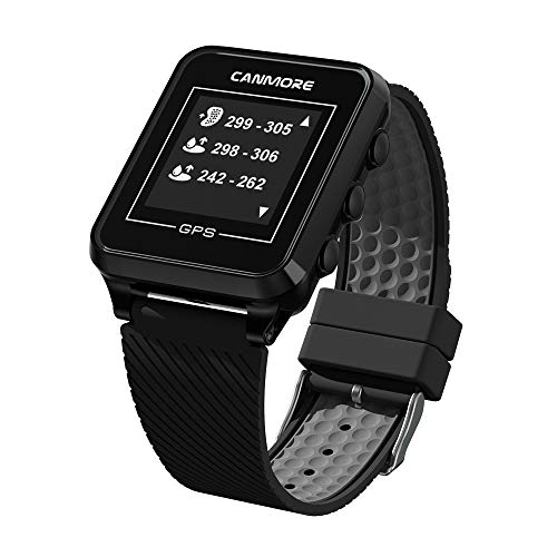 CANMORE TW-353 GPS Golf Watch – Key Course Data and Scorecard on Your Wrist – Minimalist User Friendly – 38,000 Free Courses Worldwide and Growing – 4ATM Waterproof – 1-Year Warranty Black