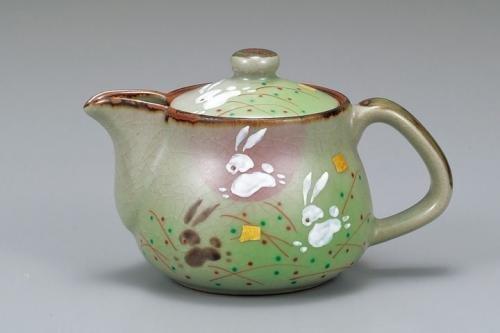 Kutani Japanese Teapot Kyuusu Rabbit Ap3-0504