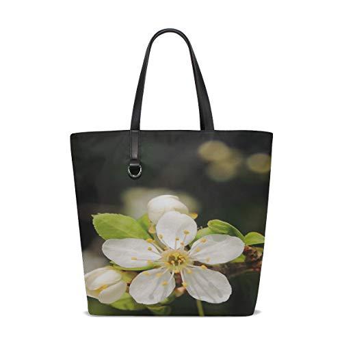 Women Mirabelka Flowers And Mirabelle Plums Plum Flower Handle Satchel Handbags Shoulder Bag Tote Purse Messenger Bags