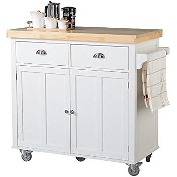 Homestar Z13070001 Kitchen Cart, White