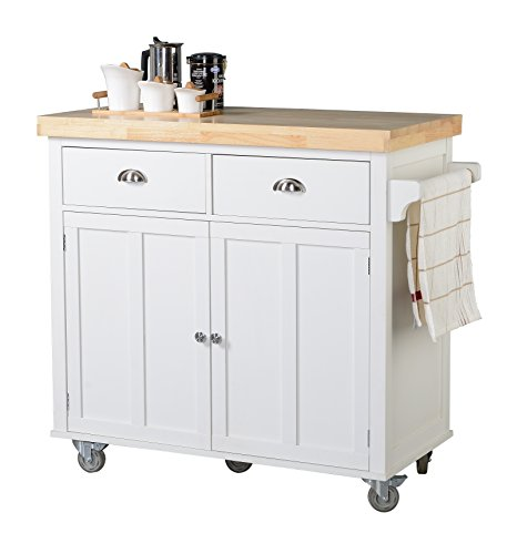 Homestar Z13070001 Kitchen Cart, White by Home Star