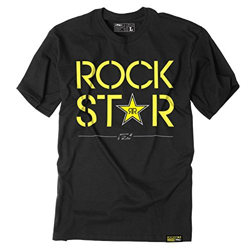 Factory Effex (18-87622) Rockstar Duplex T-Shirt (Black, Medium)