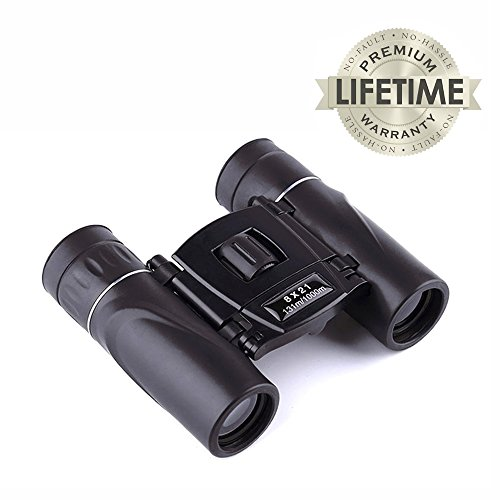 Binoculars for Adults, JoyJam Small Compact Binoculars for Kids Teens 8x21 High Resolution for Bird Watching, Hunting, Theater and Opera, Boys Gifts (Black) by Joyjam
