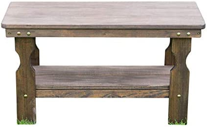 Amish Heavy Duty Pressure Treated Coffee Table Dark Walnut Stain