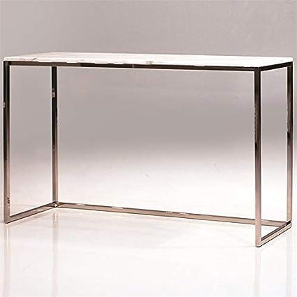amazon com mobital kube volakas marble top console table in white rh amazon com white marble top sofa table marble top sofa console table