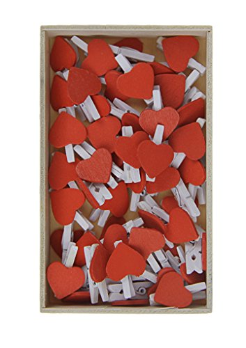 (BXT DIY Wall Photo Display 40pcs Wood Heart Photo Clips W/ 50M Picture Hanging Jute String,Indoor Outdoor Decor - Perfect for Hanging Pictures, Notes,Prints and Artwork on Birthday/Christmas/Party)