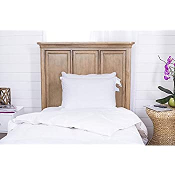Image of Continental Bedding Superior 100% Down 700 Fill Power Hungarian White Goose Down Pillow. Standard Size (Set of 2) Home and Kitchen