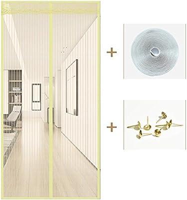 Snap Shut Malla protectora de puerta automática, marco completo de velcro, pantalla de malla resistente de verano para el hogar, puerta de dormitorio: Amazon.es: Bricolaje y herramientas
