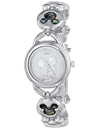 Disney Women's Mickey Mouse Abalone Stone Links Watch Mother-Of-Pearl MK2006
