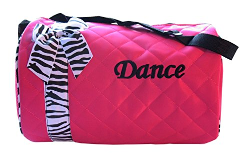 Dance bag - Quilted Zebra Duffle
