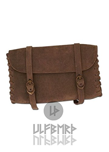 larp Bag By Viking medieval Mid Buckles Two Leather Ulf Brown With Berth RqxZvZwdgA