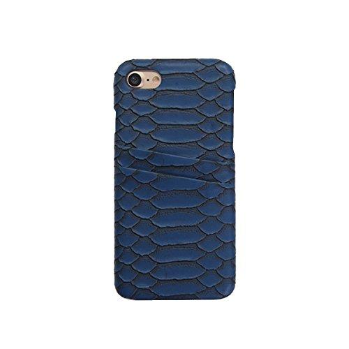 GAZE Premium Luxury Snake Leather Pocket Matt Python Back Cover Case for iPhone 8 -
