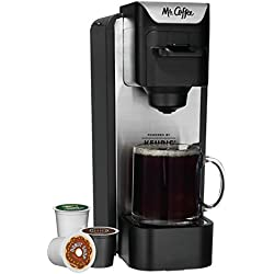 Mr. Coffee K-Cup Brewing System with Reusable Grounds Filter, Silver, SC100