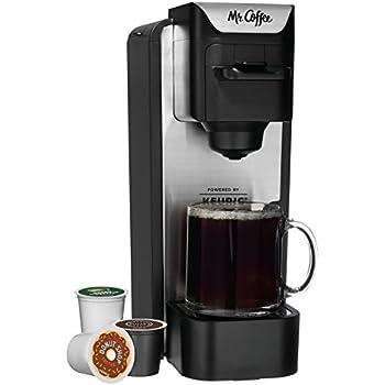 Amazon.com: Mr. Coffee Single Serve 24 oz. Coffee Brewer, Black: Single Serve Brewing Machines ...