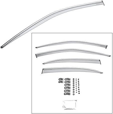 WellVisors For Nissan Maxima A32 95-99 Chrome Trim Side Window Deflectors Visors