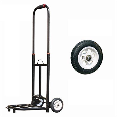 Medium Weight Trolley - RKY Folding Portable Luggage Cart Trolley Carts Hand Truck Trolley Medium Rubber High-elasticity Wheels Telescopic Load 50 Kg Multi-function trolley (Color : A)