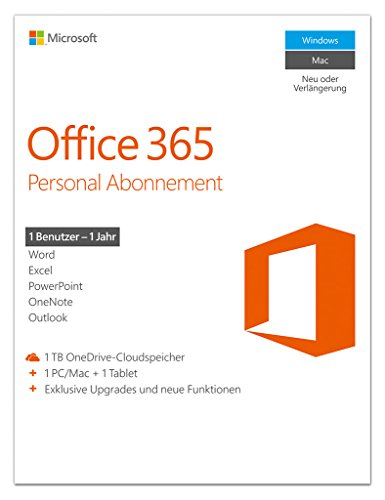 Microsoft Office 365 Personal - 1 PC/MAC - 1 Jahresabonnement - multilingual (Product Key) [Download]
