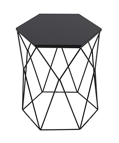 Serta FETELEBLKH01 Element Geometric Side Table, Hexigon, ()
