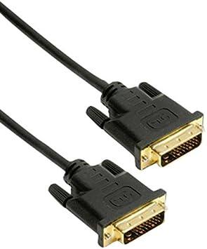 HDSupply DC130-100 Cable de conexión DVI-D de doble enlace (DVI-D (24 + 1) macho - DVI-D (24 + 1) macho), contactos dorados, 10.0m, negro