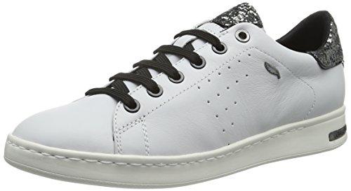 Geox Damen D Jaysen Un Wei? De Chaussure (blanc / Silverc0007)