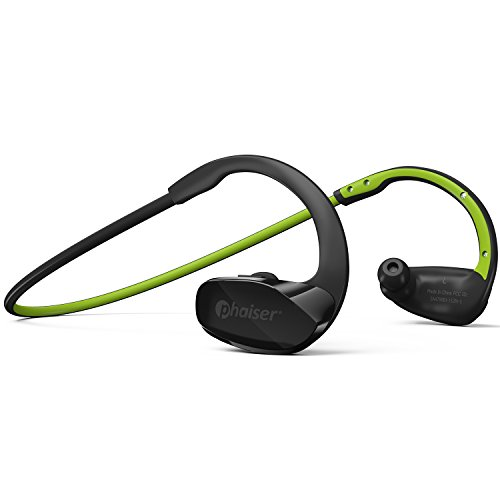 Phaiser BHS-530 Bluetooth Headphones, Wireless Earbuds Stereo Earphones for Running with Mic and Lifetime Sweatproof Guarantee, Limegreen