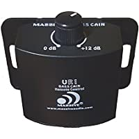 Massive Audio UR1 Amplifier Gain Control Knob. Adjustable Gain Amplifier Remote Level Controller for All Current Massive Audio Amplifiers - 0 to 12 dB Sub Amp Gain Control