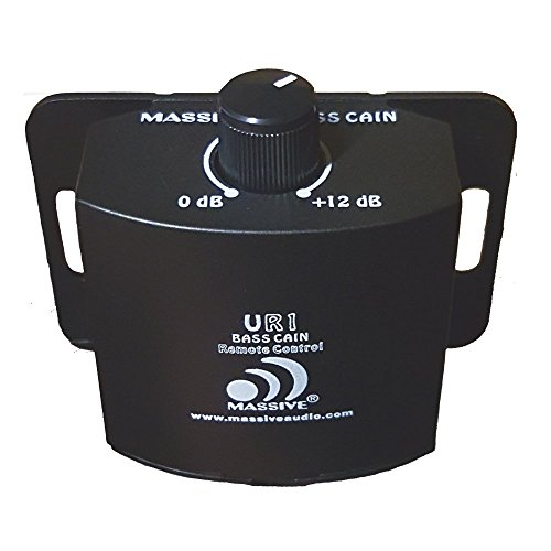 Massive Audio UR1 Amplifier Gain Control Knob. Adjustable Gain Amplifier Remote Level Controller for All Current Massive Audio Amplifiers - 0 to 12 dB Sub Amp Gain (Audio Level Gain Controls)