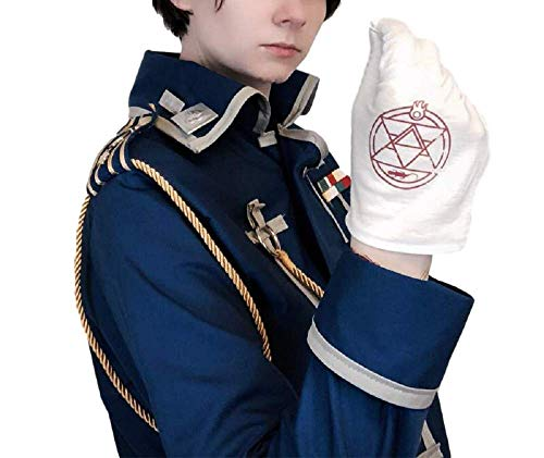(RF Anime Costume Fullmetal Alchemist Gloves Colonel Roy Mustang Edward Elric Accessories)