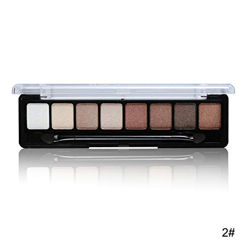 8 Earth Color Nude Makeup Eye Shadow Palette Smoky Glitter Matte Make Up Brush Tool Set Eyeshadow Maquillage Cosmetics 02